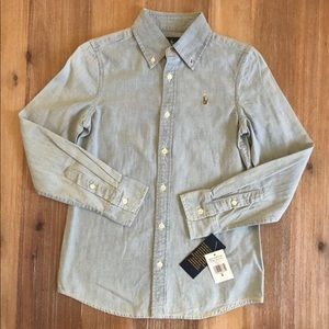 NWT Polo Ralph Lauren Girl's Chambray Shirt